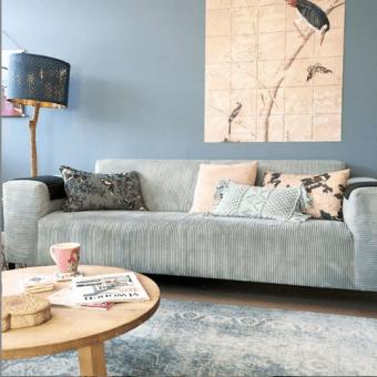 idee-deco-salon-bleu-canape-velours-gris