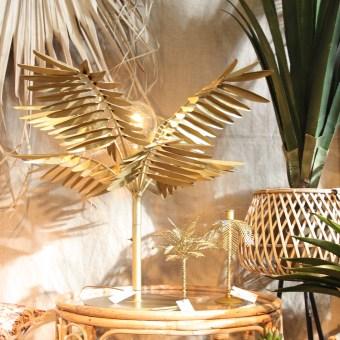 lampe palmier laiton madame Stoltz