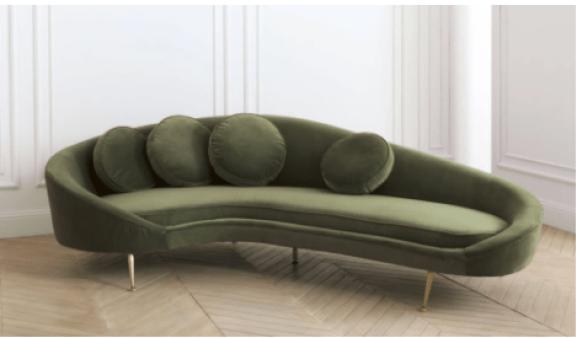 canape-design-arrondi-velours-vert