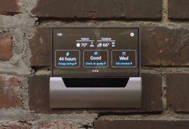 GLAS thermostat intelligent utilisant Cortana