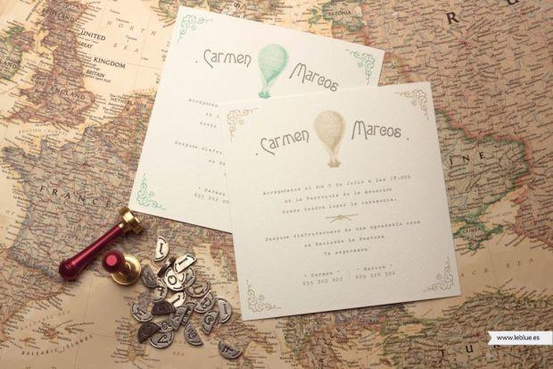 Invitaciones travel vintage