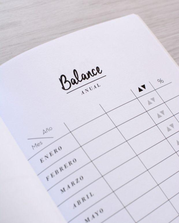 Cuaderno finanzas - Detalle - Balance