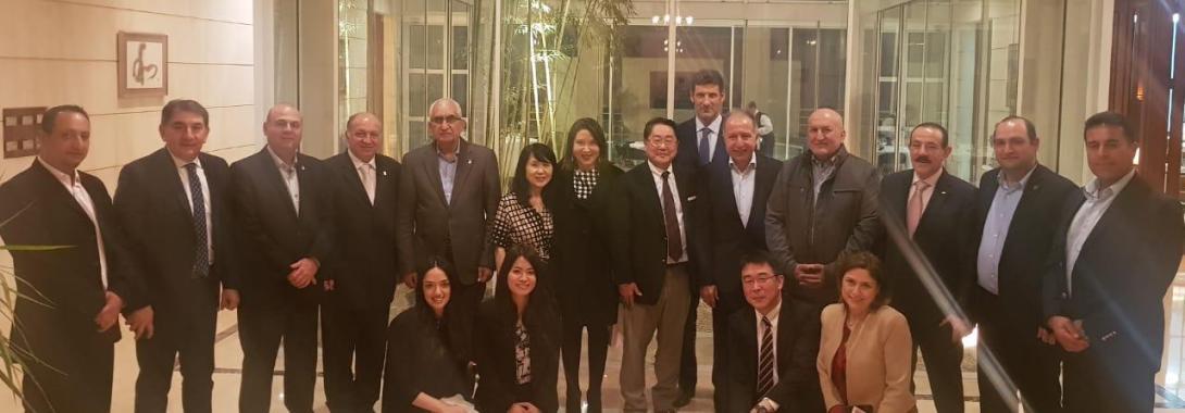 سفير اليابان أولم للجنة الأولمبية رئيساً وأعضاء  في مناسبة إستضافة بلاده أولمبياد طوكيو 2020