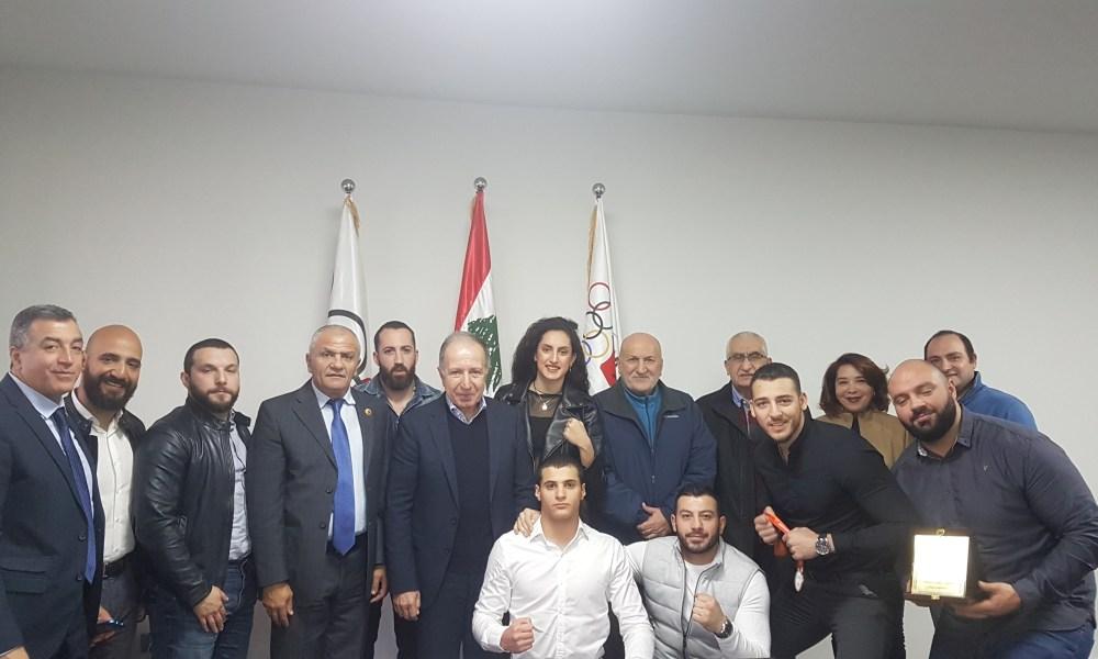 همام التقى ابطال الووشو لبطولة العالم وثمّن جهود الاتحاد وانجازات اللاعبين