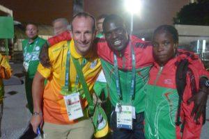 Avec l'équipe du Malawi
