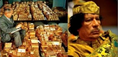 La Libye détruite par l'Occident, 7 milliards de dollars en or et argent disparu