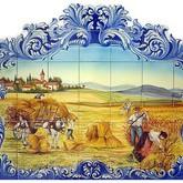 fresque murale serigraphiee en