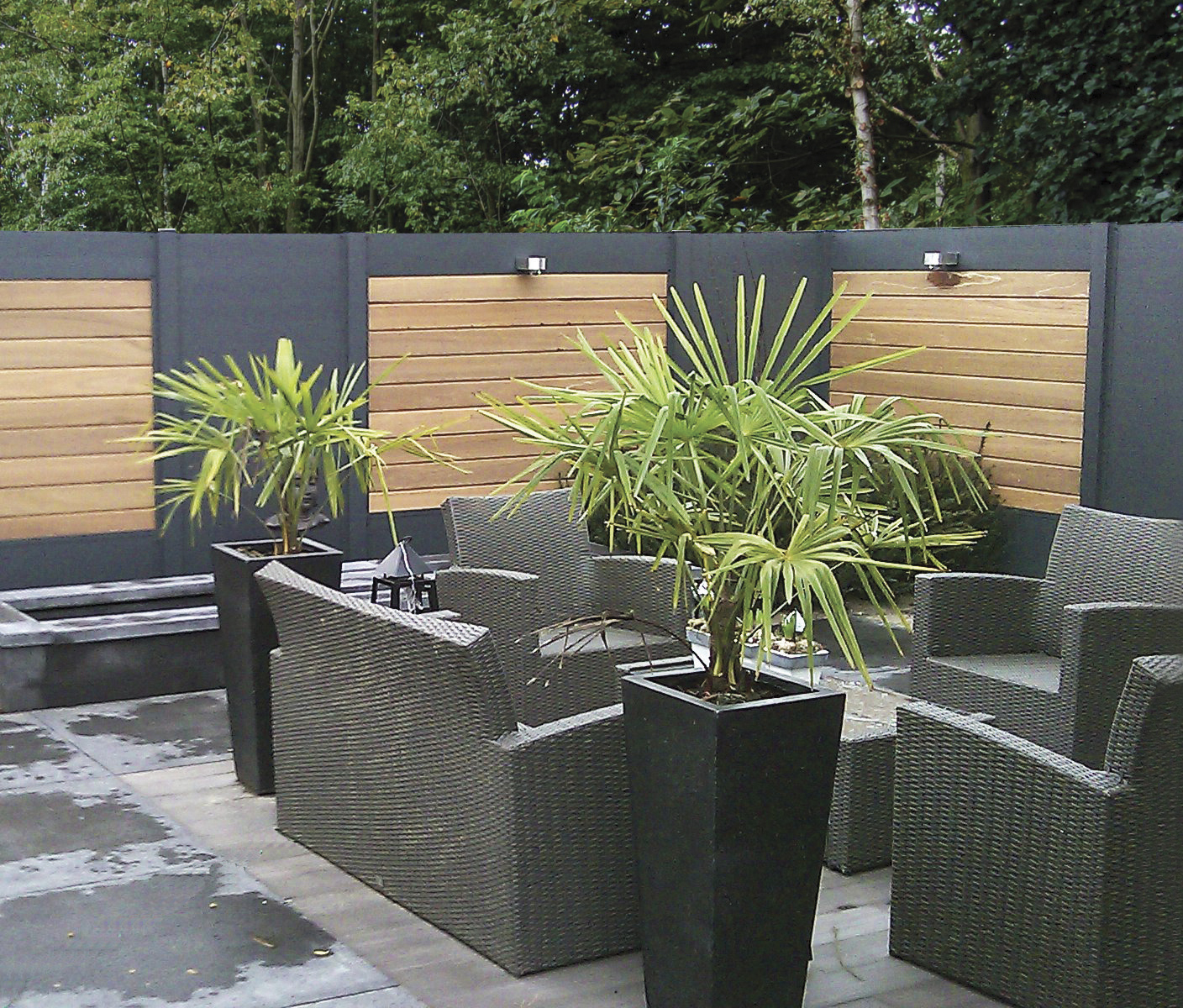 Ideal une palissade sur mesure au design contemporain for Design jardin terrasse