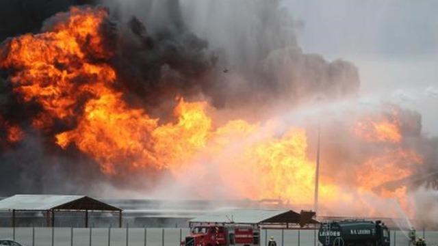 Incêndio Leixões 2012