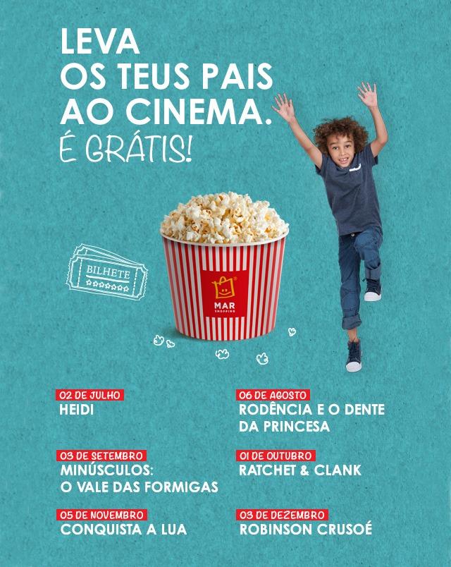Sessões Grátis de Cinema Infantil