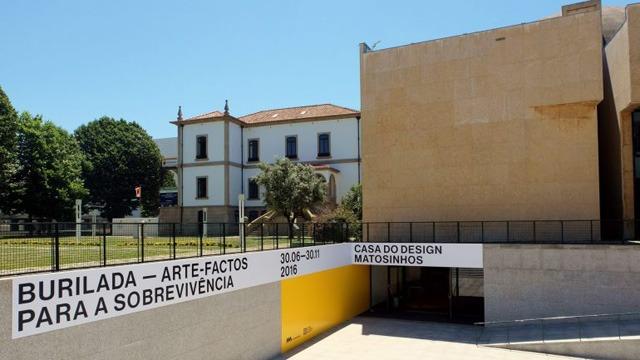 Entrada da Casa do Design em Matosinhos