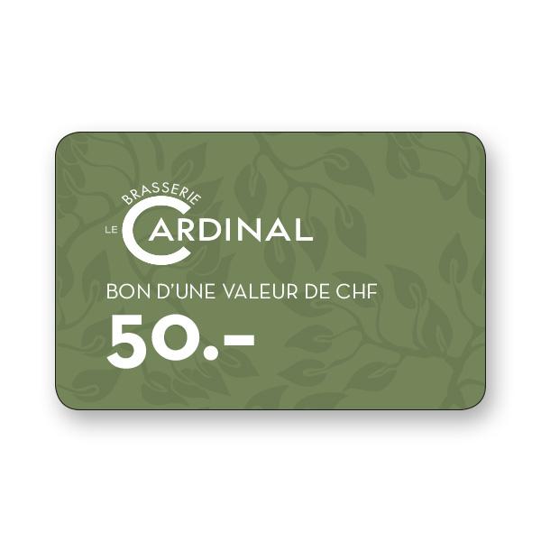 Brasserie le Cardinal Bon de 50.–
