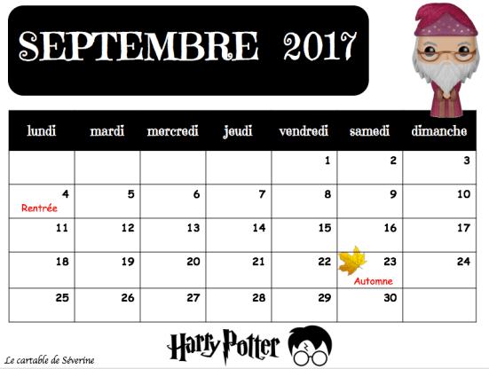 calendrier maîtresse séverine thème harry potter