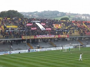Curva Benevento striscioni vs Lega