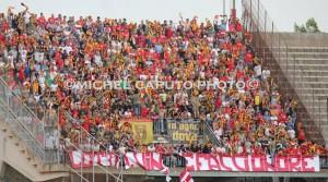 """Tifosi del Benevento al """"Via del Mare"""" in occasione della semifinale playoff"""