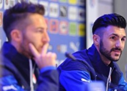 Soccer: Italy's press conference