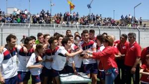 la premiazione Novoli Calcio