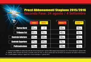 abbonamenti new 2015/16