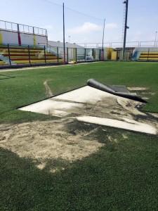 atti vandalici stadio Bianco Gallipoli 7