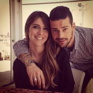 Checco Lepore con la compagna Claudia