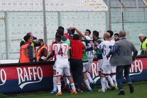 L'esultanza al gol di Esposito (foto F.Mitidieri)