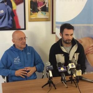 Mirko Vucinic con Peppino Palaia