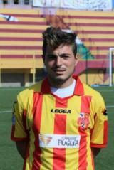 Giuseppe Villani con la maglia del San Severo
