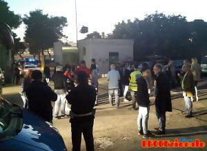 giornalisti Foggia nel parcheggio del Via del Mare