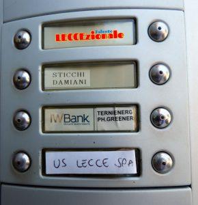 campanello sede U.S. Lecce