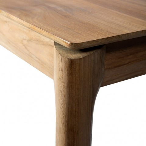 table a rallonge bok en teck d ethnicraft 160 240x90x76