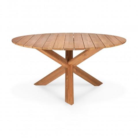 table d exterieur circle en teck d ethnicraft o 136 x h 76 cm