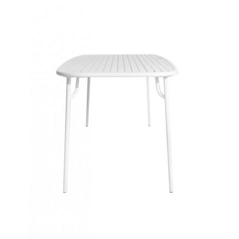 table rectangulaire week end de petite friture 220x85x75 blanc