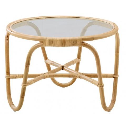 table basse avec plateau en verre charlottenborg de sika design naturel