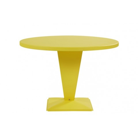 table ronde kub de tolix jaune citron 110 cm