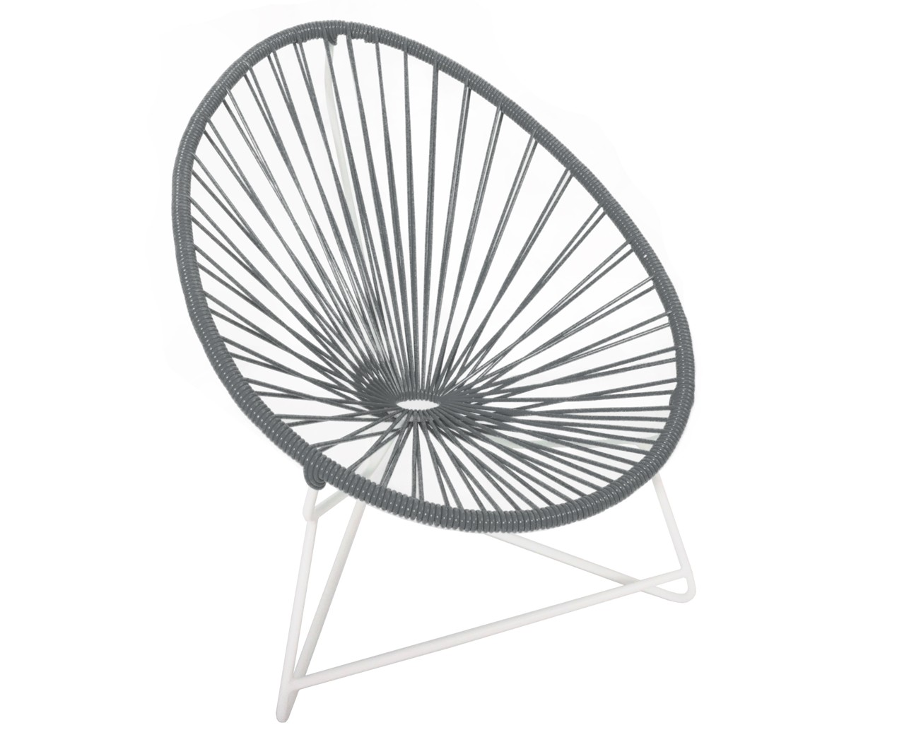 fauteuil acapulco enfant de boqa avec structure blanche gris fer