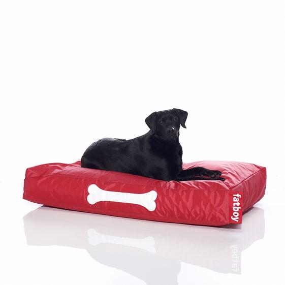 coussin pour chien doggielounge de fatboy grand modele rouge
