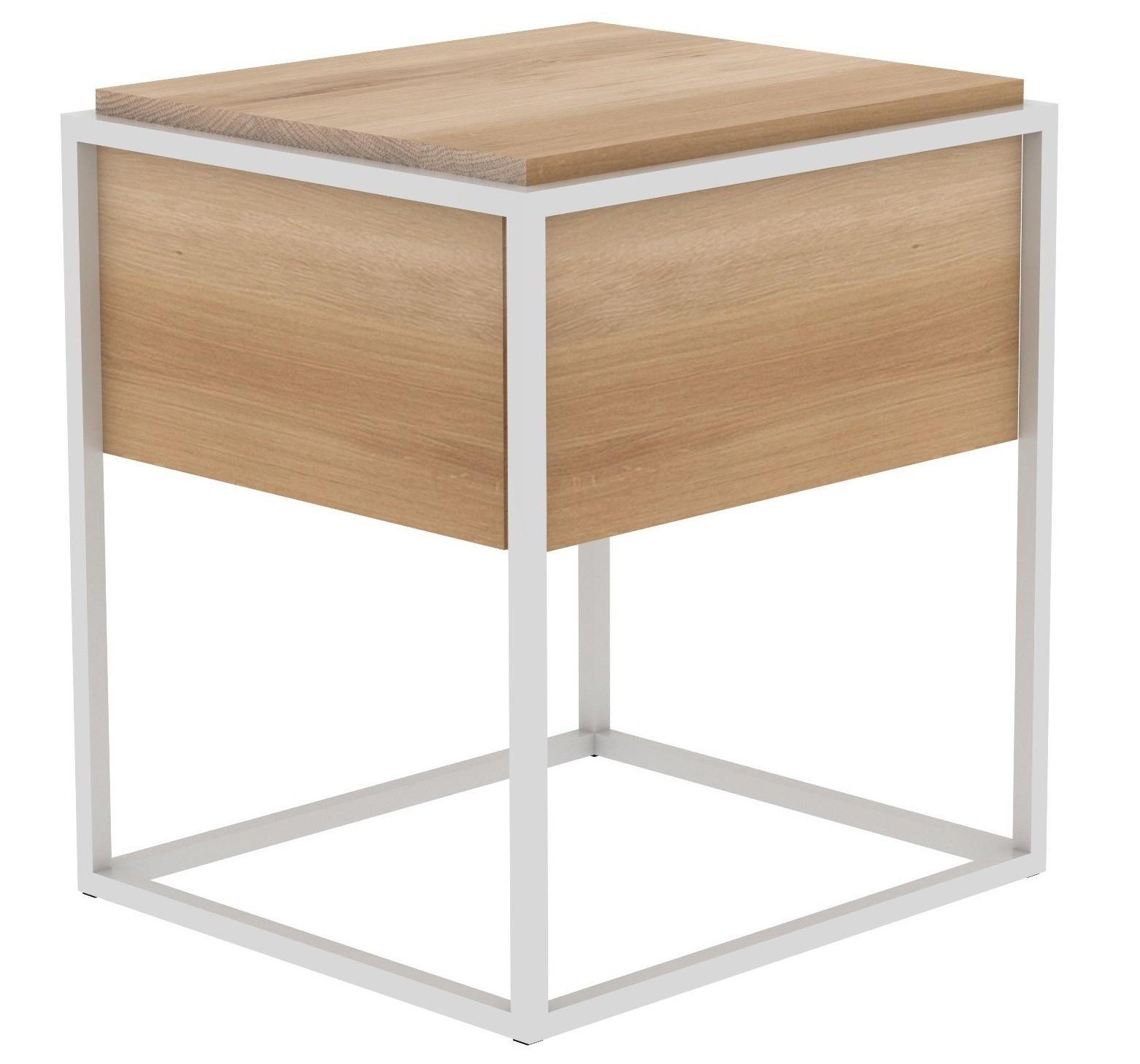 table de chevet monolit d ethnicraft chene et blanc