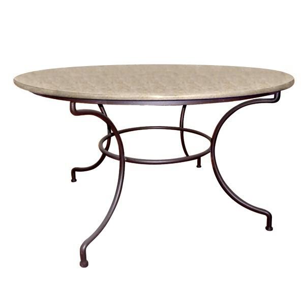 table ronde en pierre marbriere pied directoire 2 coloris