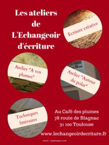 Ateliers d'écriture Toulouse