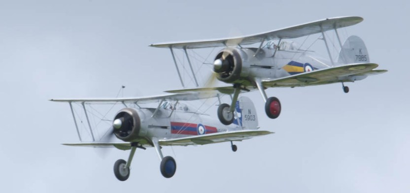 Gloster Gladiator patrol Flying Legends 2015 - 02