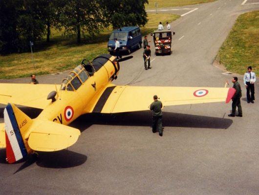T-6 F-AZCV en 1991 à la BA116 de Luxeuil (Photo © Christian R)