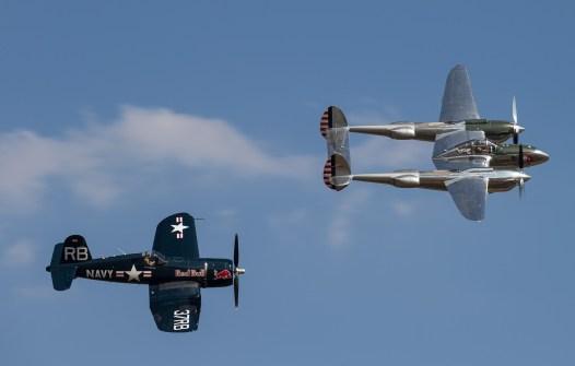 P-38L/F-5G Lightning 44-53254 & F4U-4 Corsair BuNo 96995 (Photo © Damien Defever)