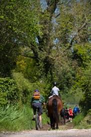 A cheval, à vélo ou à pied