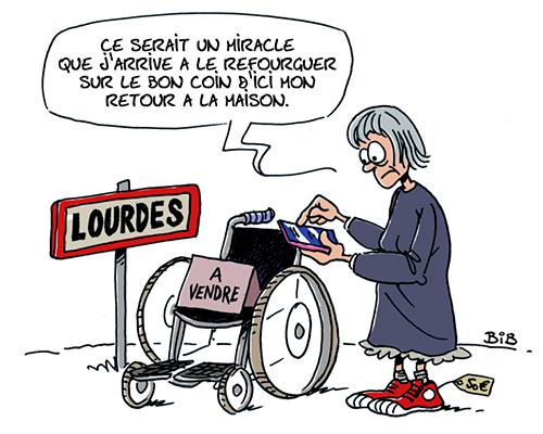 """Résultat de recherche d'images pour """"miracle à Lourdes humour"""""""