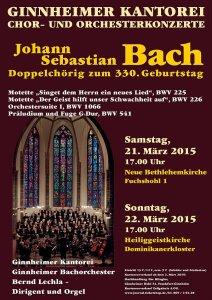 Bachkonzerte zum 330. Geburtstag