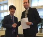 The agreement was signed by Mr Javier Cavada, President of Wärtsilä Energy Solutions and Mr John Jung, President & CEO, Greensmith Energy Management Systems Inc.