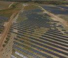 La centrale photovoltaïque Núñez de Balboa en cours de construction à Usagre (Badajoz). Photo : Iberdrola