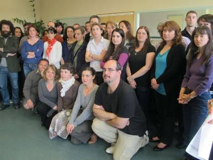 Les professeurs, qui reprennent les cours aujourd'hui, veulent être entendus. - ECHO REPUBLICAIN Photo