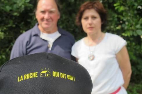 Michel Thiéry et Marielle Couillerot développent La Ruche qui dit oui ! à Lucé. - ECHO REPUBLICAIN Photo