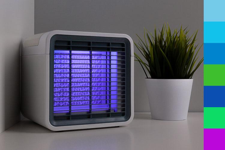 Mini aer conditionat cu iluminare